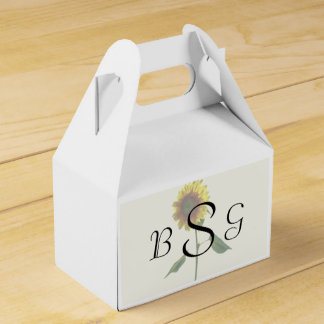 Sunflower Standing Tall Wedding Products Favor Box