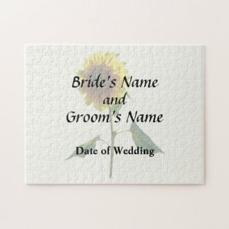Sunflower Standing Tall Wedding Products Jigsaw Puzzle
