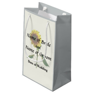 Sunflower Standing Tall Wedding Products Small Gift Bag