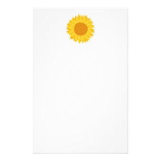 Sunflower. Stationery Paper