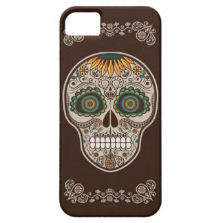 Sunflower Sugar Skull Day of the Dead iPhone case
