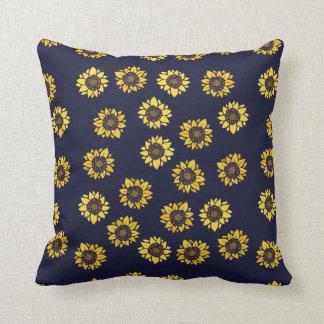 Sunflower summer sunshine throw pillow