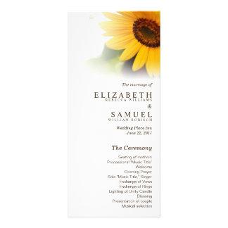 Sunflower Summer Wedding Program Rack Cards