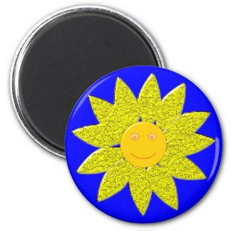 Sunflower sun more flower 2 inch round magnet