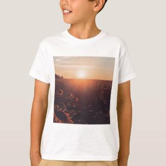 sunflower sunset field clothing T-Shirt