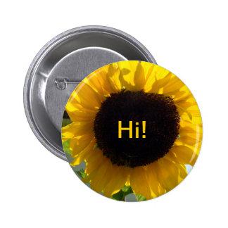 Sunflower Sunshine Buttons