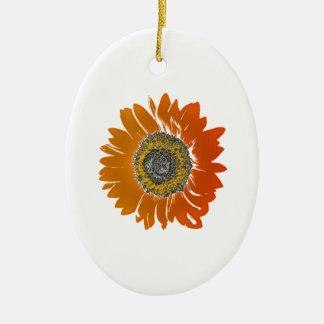 Sunflower Sunshine Ceramic Oval Ornament