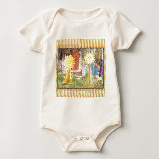 sunflower sunshine decorations festivals celebrati baby bodysuit