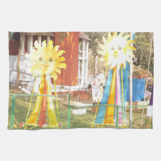 sunflower sunshine decorations festivals celebrati kitchen towel