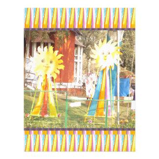sunflower sunshine decorations festivals celebrati letterhead