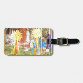sunflower sunshine decorations festivals celebrati luggage tag