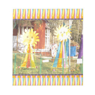 sunflower sunshine decorations festivals celebrati notepad
