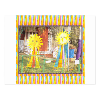 sunflower sunshine decorations festivals celebrati postcard