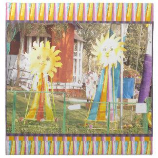 sunflower sunshine decorations festivals celebrati printed napkin