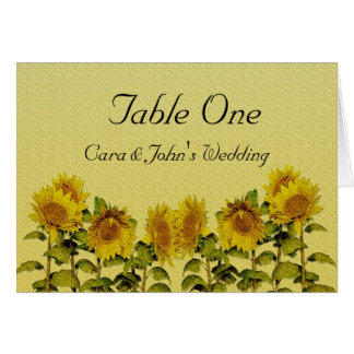 Sunflower Table Seating Card