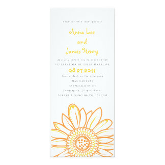 Sunflower Tea Length Wedding Invitation