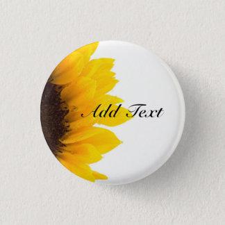 Sunflower template 1 inch round button