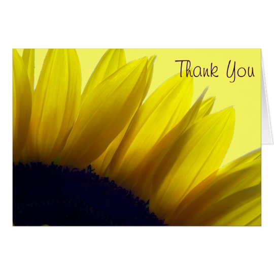 Sunflower Thank You Cards (Message Inside)