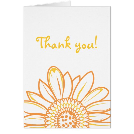 Sunflower Thank You Note Card
