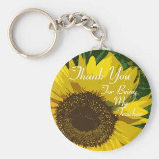Sunflower Thank You Teacher Keychain