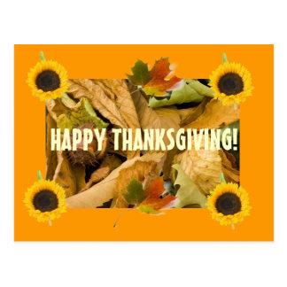 Sunflower Thanksgiving Postcard
