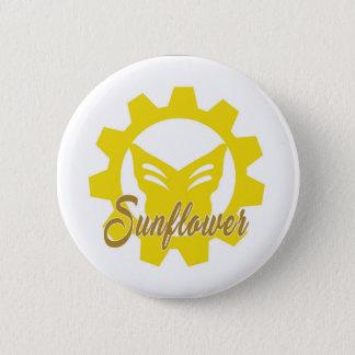 Sunflower:The Elite Shirt (Psycho Pop Playhouse) 2 Inch Round Button