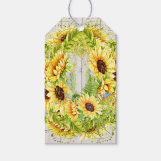 Sunflower Theme Pack Of Gift Tags