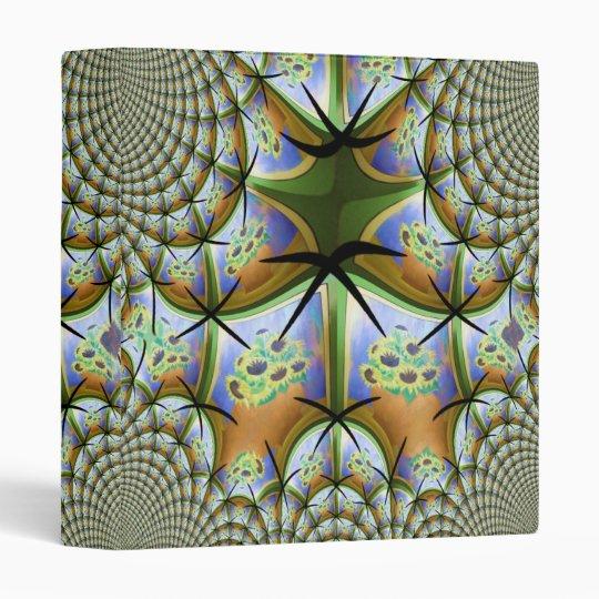 Sunflower Tile Fractal Art 2 Binder