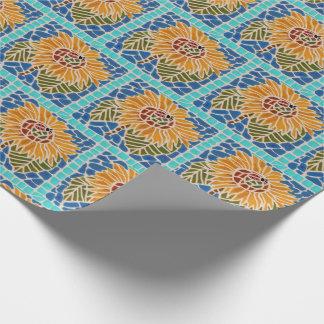 Sunflower Tile Mosaic Gift Wrap