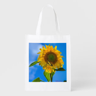 Sunflower Tote Bag Reusable Grocery Bags
