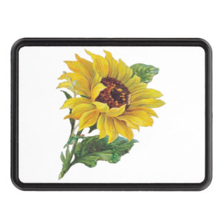 Sunflower Trailer Hitch Cover