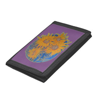 sunflower tri-fold wallets