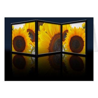 Sunflower Tryptych Card
