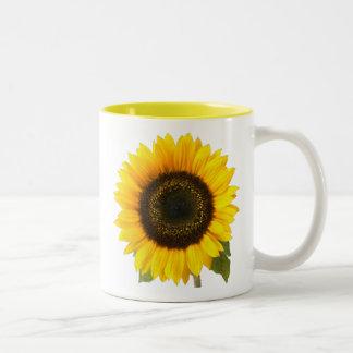 Sunflower Two-Tone Coffee Mug