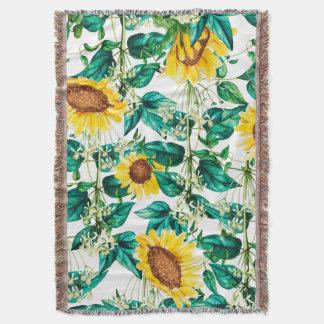 Sunflower Valley Throw Blanket