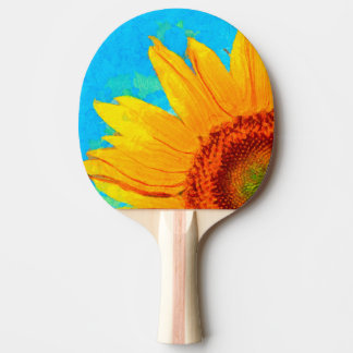 Sunflower Van Gogh Square Ping Pong Paddle