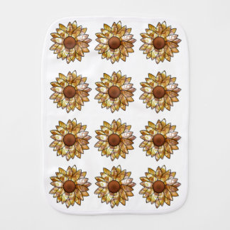 Sunflower Vibes Burp Cloth