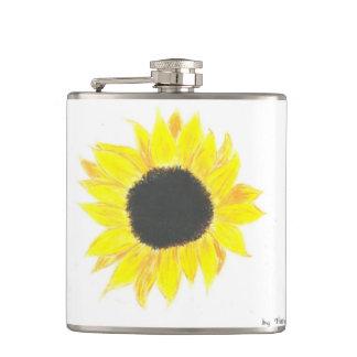 Sunflower Vinyl Flask