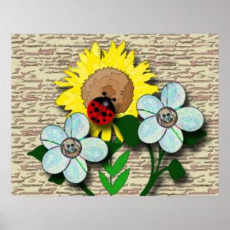 Sunflower Visitor Poster