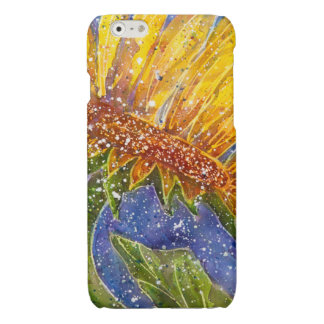 Sunflower watercolor cover for phone