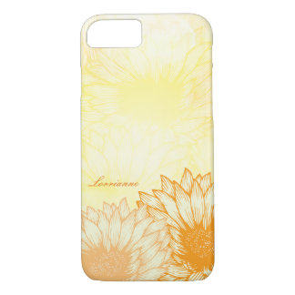 Sunflower, Watercolor Customized iPhone 7 Case