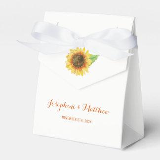 Sunflower Watercolor Wedding Favor Box