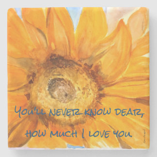 Sunflower Watercolor You Are My Sunshine Coaster