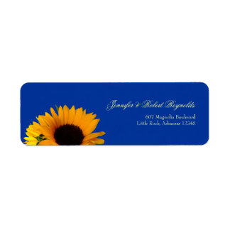 Sunflower Wedding Address Label