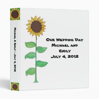 Sunflower Wedding Album 3 Ring Binders