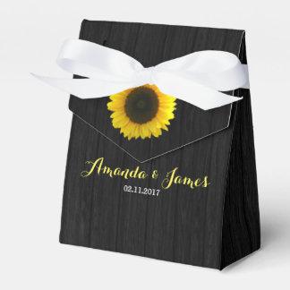 Sunflower wedding favor box