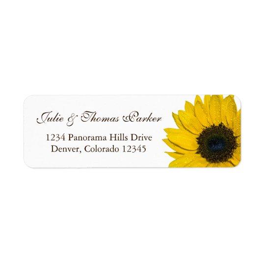Sunflower Wedding or General Return Address Labels