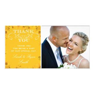 Sunflower Wedding Photo Thank You Cards Customized Photo Card