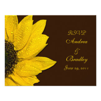 Sunflower Wedding Response Card Invitation