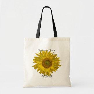 Sunflower Wedding Tote Bag